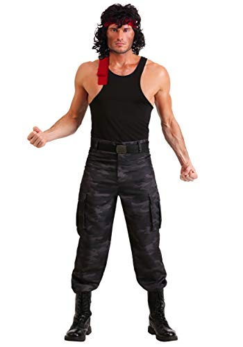 Rambo Men's John Rambo Fancy Dress Costume X-Large