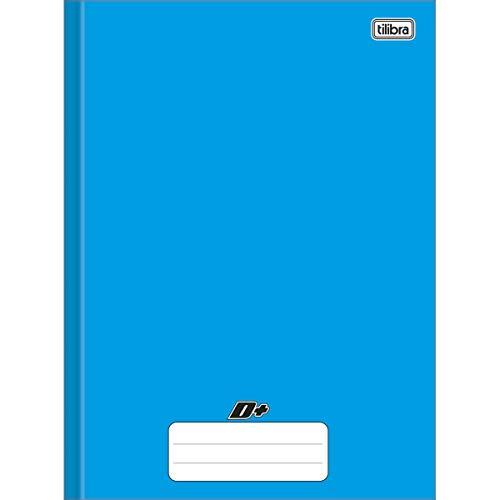 Caderno Brochura Universitário, Capa Dura, Tilibra, D+, 200x275mm, 96 Folhas, Azul