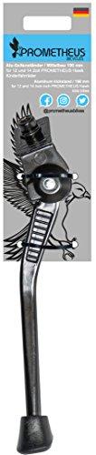 Prometheus Fahrradständer nur für 12 und 190 Zoll Hawk Kinderfahrrad | Aluminium in Schwarz | Mittelbauständer - Seitenständer Edition 2019