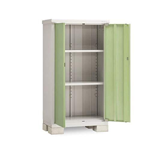 イナバ物置 BJX/アイビーストッカー BJX-095D 全面棚タイプ 『屋外用ドア型収納庫 DIY向け 小型 物置』 LG(リーフグリーン)