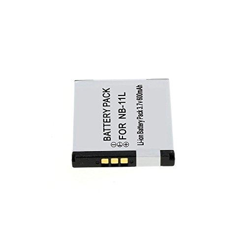 Batería de Litio Recargable Compatible con CÁMARAS Canon NB-11L PowerShot IXUS 3.7V - 600 mAh