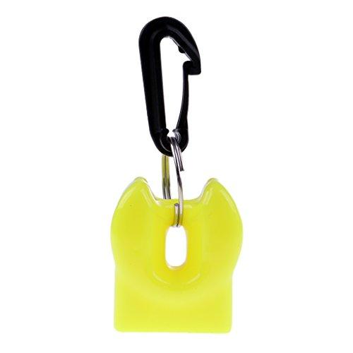 F Fityle Soporte para Pulpo de Buceo - Gran Equipo de Seguridad Y Protección para Boquilla de Buzo Amarillo
