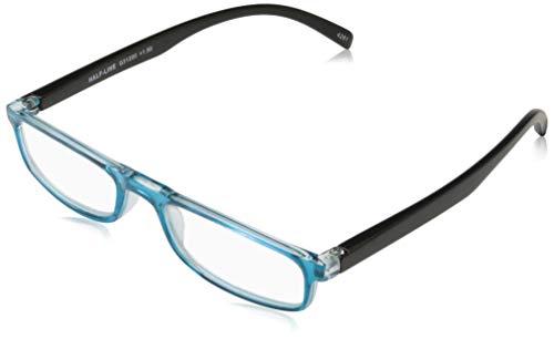 I Need You HALF-LINE, G31200, Kunststoffbrille mit Federtechnik, blau-schwarz, 1.5 Dioptrien