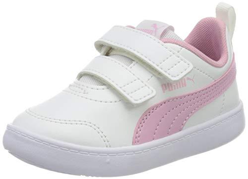PUMA Courtflex v2 V Inf, Sneaker Unisex-Bambino, Rosa Pale Pink Silver, 27 EU