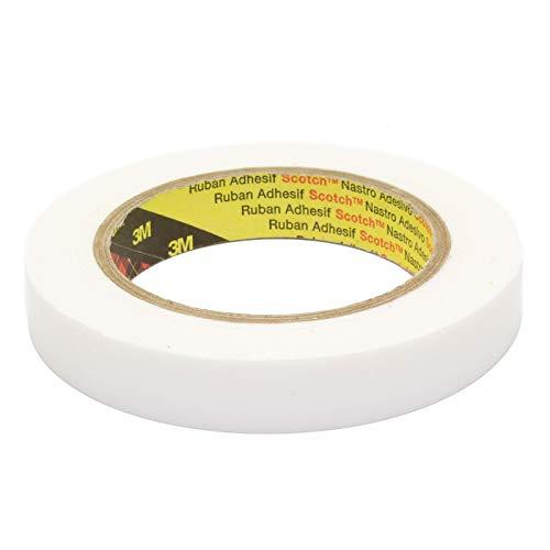 DonDo 3M 9528W doppelseitiges Montageklebeband Schaumstoff Klebeband aus PE-Schaum weiß stark klebend 18mm x 5,5 Meter