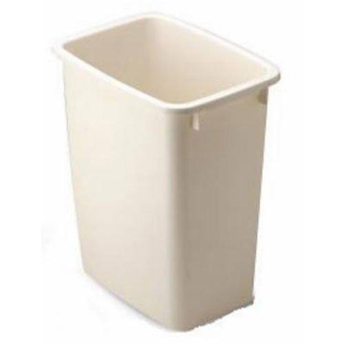 Rubbermaid Small Kitchen Bathroom Trash Can, Under Sink Waste Basket, Plastic Beige 5 Gallons 8 Inch Wide