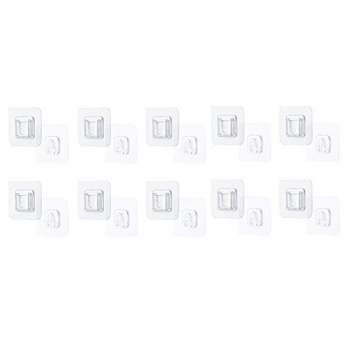 Transparenter Selbstklebend Haken, 50 Stück Küche HUANGHUANG Wandhaken Wiederverwendbar Haken Selbstklebend Handtuchhaken Wasserfeste Mehrzweckhaken für Küchen Badezimmern Decke Aufhänger