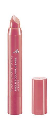 Manhattan Endless Colour & Shine Lip Butter – Lippenstift mit langanhaltendem Farbglanz in Koralle – Farbe Coraliscious 400 – 1 x 3g