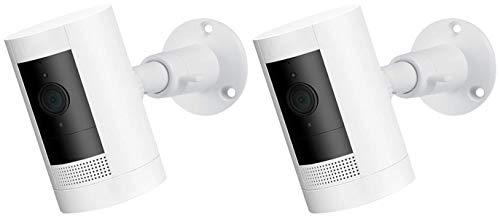 Verstellbare Metallhalterung mit Universalschraube - kompatibel mit Stick Up Cam Wired HD und Akku Cam - Extra Flexibilität für Ihre Kamera (2er Pack, Weiß)