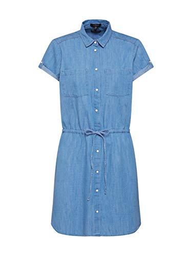 Mavi Damen Denim Dress Kleid, Blau (Light Indigo 10242), Medium (Herstellergröße: M/)