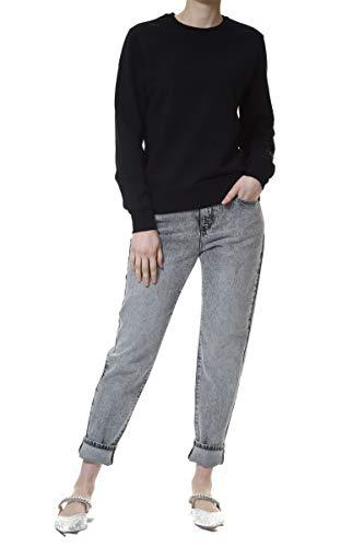 KARL LAGERFELD Rhinestone Logo Sweatshirt Sudadera, Negro, XL para Mujer