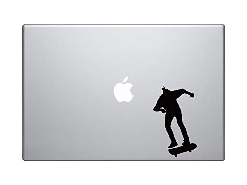 DKISEE Skateboard Trick #5- Skate Shop Kunst Freestyle Ollie Jump - MacBook Vinyl Sticker Sticker Sticker MacBook Laptop Vinyl Sticker Muursticker Auto Sticker 8 inch Onecolor