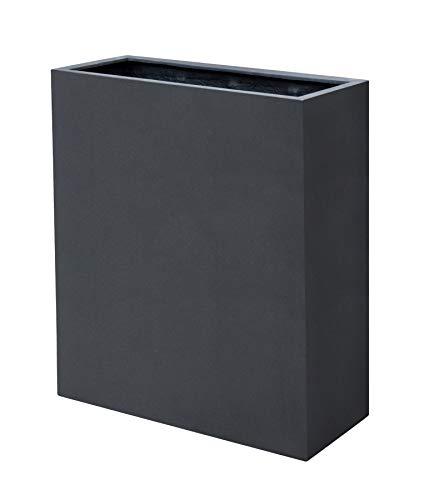 VAPLANTO® Pflanzkübel High Box 60 Anthrazit Schwarz Raumteiler * 60 x 24 x 74 cm * Manufaktur Qualität * 10 Jahre Garantie