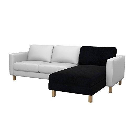 Soferia - Bezug fur IKEA KARLSTAD Anbau Recamiere, Eco Leather Black