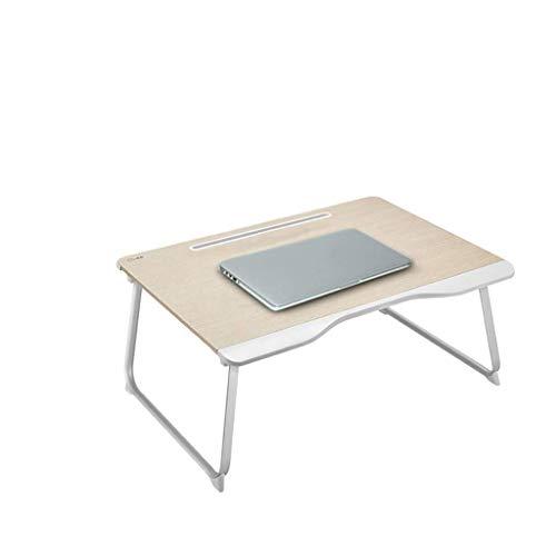 NO LOGO Kleiner Tisch im Bett Erfahren Schreibtisch Haushaltsstudenten Schreibtisch Einfach Falten Notebook-Computer-Schreibtisch sitzen auf dem Schlafzimmer Schlafsaal BTZHY
