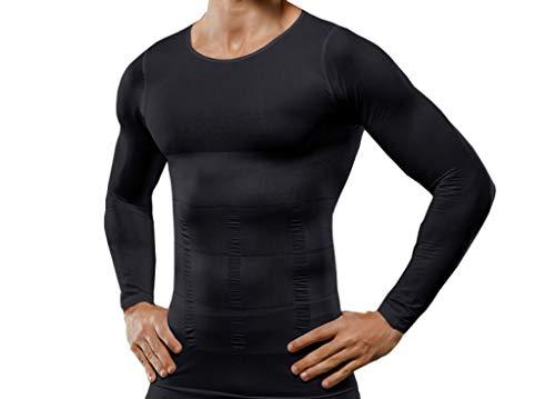 Herren O Neck Kompressionshemden Workout Athletics Shirt für Herren Active Sports Langarm