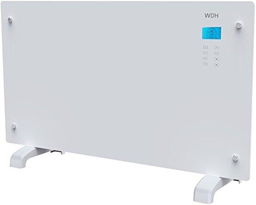 Aktobis Glasflächenheizer, Glaskonvektor, Heizung Aktobis WDH-GH20R (2.000 W, LCD-Display, Touchscreen, Timer, Fernbedienung)