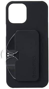 ThinOptics Rectangular Reading iPhone 12 pro max black slimline case with 2.0 CLEAR glasses 2.0x + 2
