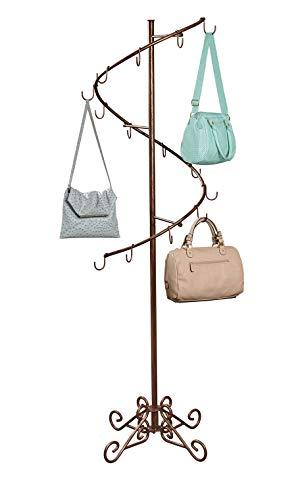 SSWBasics Boutique Cobblestone Spiral Handbag Rack (6'H x 17' W)