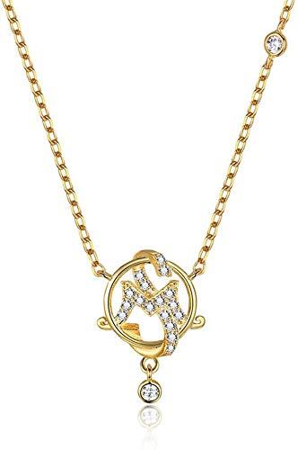 JIALI Collar colgante ajustable de plata de ley S925 con forma de cruz para mujeres y niñas