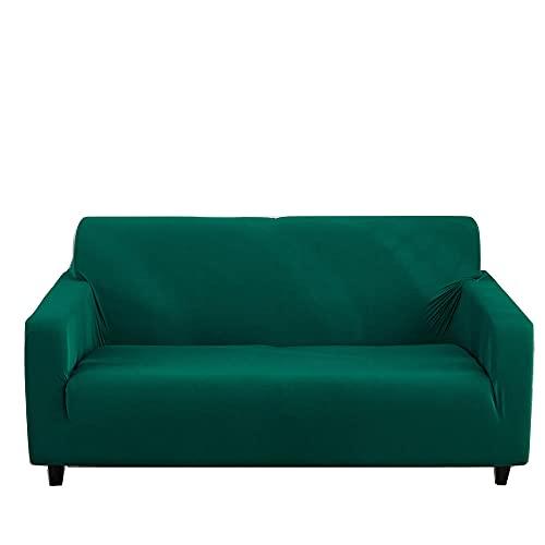 Copridivano con Penisola Elasticizzato Copridivano Componibile per Divano a Forma di L Lavabile,3-seater 75-90in_green