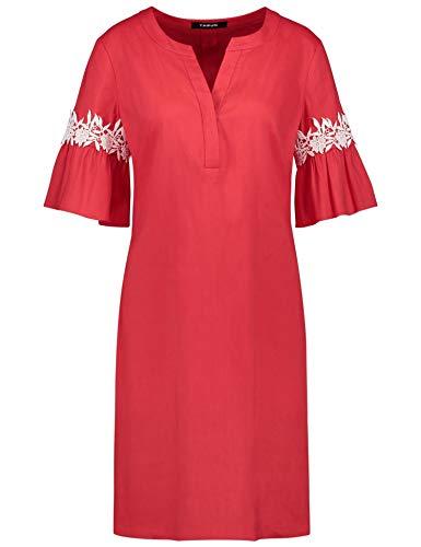 Taifun Damen 380028-11090 Kleid, Rot (Tomate 60119), 36