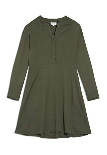ARMEDANGELS INAARI - Damen Kleid aus LENZING™ ECOVERO™ M Moss Green Kleider Web, Dresses Woven Regular fit