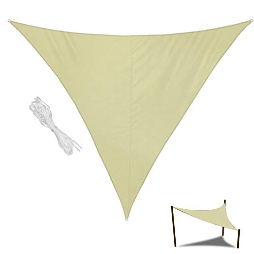 L-DREAM Toldos Exterior, Toldos Impermeables con Ojales, Toldo Vela Triangular, Toldos para Terrazas/Pergolas/Jardin, Sombreado Y Prevención Rayos UV 98%, Piscina Toldos Parasol