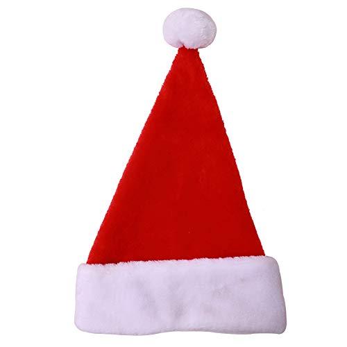 LUOXU Los Sombreros de Santa, Unisex Sombrero de Navidad Sombrero de Navidad Vacaciones Extra Espesa los clásicos de la Piel de los Sombreros de Santa, para el Partido de Navidad Año Nuevo Día Rojo