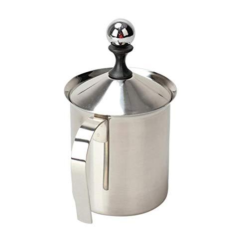 800 ml in acciaio inox montalatte creamer schiuma caffè tirare tazza fiore tazza doppia maglia latte Argento