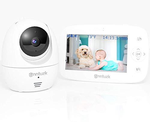Babyphone mit Kamera, enntuzk 4,3 Zoll Video Baby Phone Monitor Camera mit Gegensprechfunktion, 300M Hohe Reichweite, Nachtsicht, Tages-Long-Batterie, Temperatursensor, Babyfon Überwachung Neue Mütter