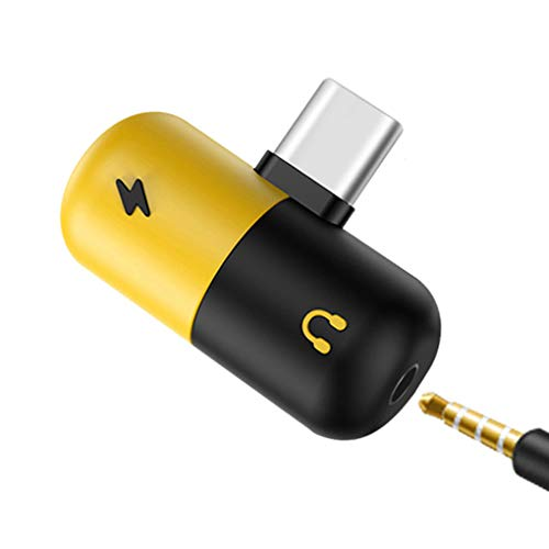 Morza Type-C to 3.5 mm Earphone Jack Adapter 2 in 1 USB C Audio Cable Converter Charging Splitter Headphone Adapter