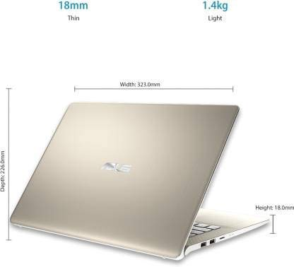 (Renewed) Asus VivoBook S Series Core i5 8th Gen - (8 GB/1 TB HDD/256 GB SSD/Windows 10 Home) S430FA-EB039T Thin and Light Laptop (14 inch, Icicle Gold, 1.40 kg)