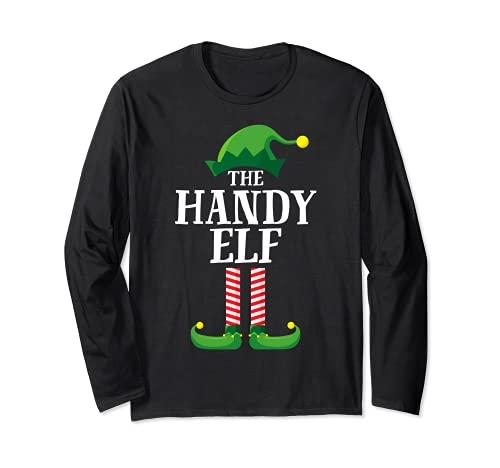 Pijama de fiesta de Navidad de grupo familiar a juego de elfos móviles Manga Larga