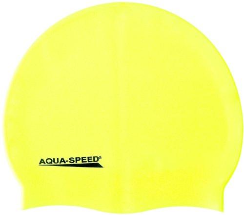 Aqua-Speed - Bademütze/Schwimmkappe - Super-Stretch Mega 100-18 (gelb)