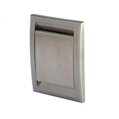 Trovac Saugdose rechteckig Deco - beschichtet Farbe Edelstahloptik