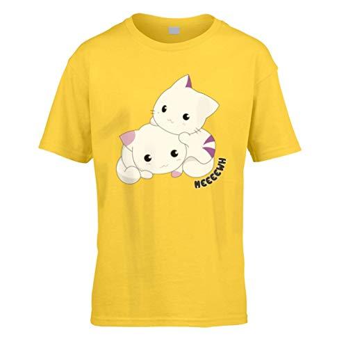 Chats Mignons Enfants T-Shirt (à Choisir Couleur et Taille) (3 à 13 Ans an) - Marguerite, Small...