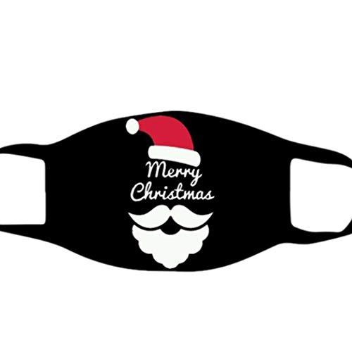 Yean Face Coverings Navidad Impreso transpirable cara cubierta protectora a prueba de polvo Bandana partido accesorios para mujeres hombres niños