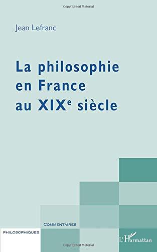 La philosophie en France au XIXème siècle