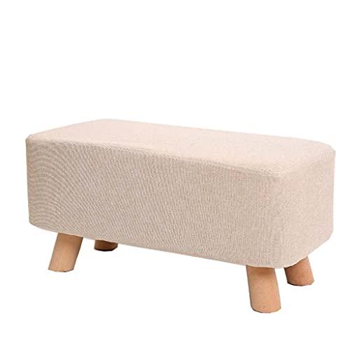 Árboles de actividad de gatos Fin de la cama del sofá del taburete del taburete de madera maciza rectangular de zapatos Bench Stool Tela largo banco de heces Salón Stool Taburete Sofá cama Bench Estan
