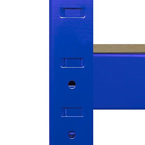 Monster Racking Sparangebot 1 x blaues T-Rax 90cm Eckregaleinheit Eckregal + 2 x blaue T-Rax 90cm Hochleistungsregale Schwerlastregal Lagerregal Garagenregal Stahlregal Industrieregal Werkstattregal S - 8