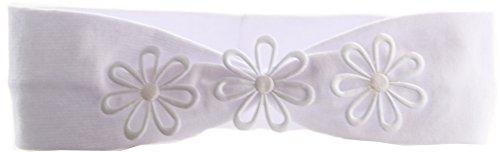 La Bortini Baby Kinder Haarband Stirnband Hairband Weiß mit Schleife festlich Taufe (0/12Mon.)