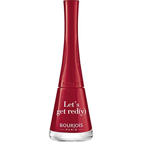Bourjois - Vernis à Ongles 1 seconde avec Pinceau Panoramique - Séchage rapide - 09 Let'S Get Red(Y)