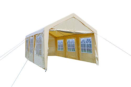 GOJOOASIS Carport Frame Tent Party Tent Heavy Duty Portable Car Garage Tent Outdoor Gazebo (10' x 20' with 8 Walls)