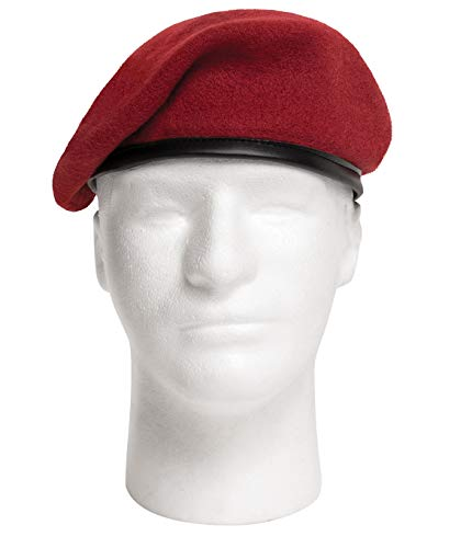 Rothco GI Wool Type Beret, Red, 7.5