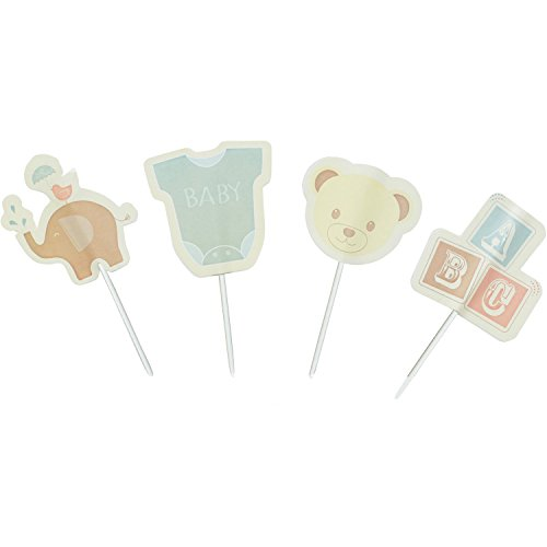 Kitchen Craft Cupcake-Dekorierset Sweetly Does It Babydesign in rot/grün 48-teilig, Papier, 28 x 28 x 30 cm