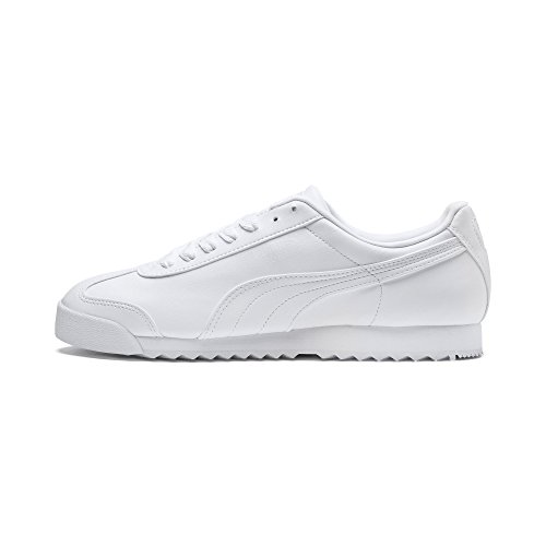 PUMA Roma Basic, Sneaker Uomo, Bianca (White-Light Gray), 42.5 EU