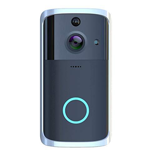 B Blesiya FHD Wifi Video Antirrobo Timbre De Puerta Aplicación De Seguridad Sin Cables Campana De Control Negro - Negro, Timbre Individual