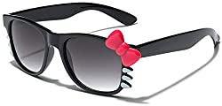 8e61b74b7 Hello Kitty Bow Women's Fashion Clear Lens Glasses w/ Bow & Whiskers Soft  Matte Frame