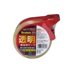 (業務用10セット)スリーエム 3M 透明梱包用テープ カッター付 313D 1PN